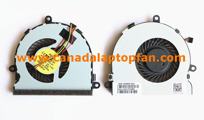 HP 15-R013CA Laptop CPU Fan 754477-001 753894-001